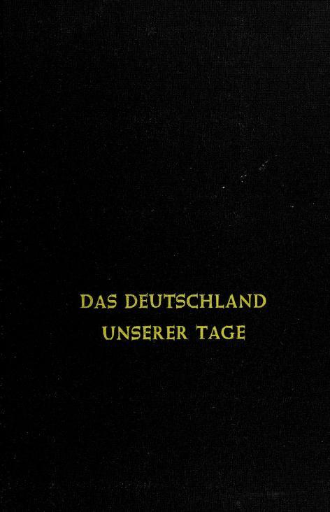 Das Deutschland unserer Tage by Herbert L. Kufner