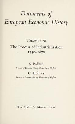 Cover of: Documents of European economic history   Sidney Pollard