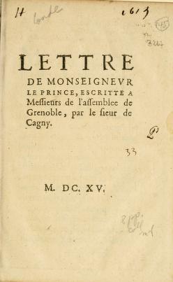 Cover of: Lettre De Monseignevr Le Prince | Condé, Henri II de Bourbon prince de
