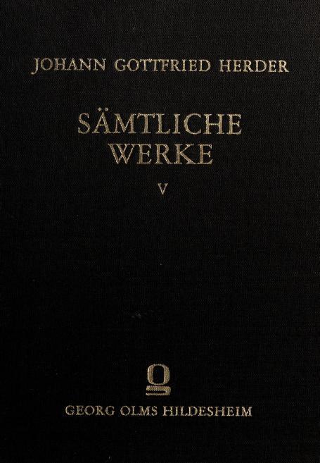 Sämtliche Werke by Johann Gottfried Herder